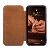 Bouletta Slim Fit Book Case Deri Telefon Kılıfı iPhone XS Max V18 Taba