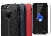 İphone 8 Plus Silikon Kılıf Hybrid Niss + Cam Ekran Koruyucu