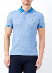 Mavi Erkek Slim Fit Desenli Polo Yaka Tişört