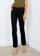 Kadın Siyah Arka Cepli Kumaş Pantolon