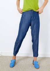Kadın İndigo Tensel Cepli Pantolon