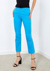 Kadın Mavi Cepli Pantalon
