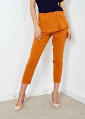 Kadın Tarçın Dar Paça Etek Detaylı Pantolon