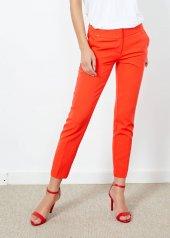 Kadın Kırmızı Yan Cepli Pantalon