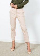 Kadın Pudra Klasik Kesim Pantalon