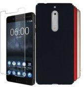 Nokia 5 Sert Plastik Silikon Kılıf + Nano Ekran Koruyucu