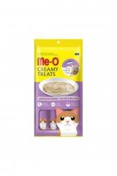 Me-o Creamy Treats Ton Balıklı ve Deniz Taraklı Krem Kedi Ödülü 4 x 15 GR