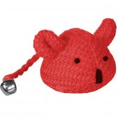 Karlie Kedi Oyuncağı Çanlı Örgü Fare 10 cm Kırmızı