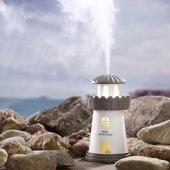 Deniz Feneri Hava Nemlendiricili Gece Lambası Buhar Makinesi