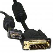 HDMI DVI KABLO 5 METRE DVI 24+1 MALE TO HDMI 19P MALE POWERMASTER