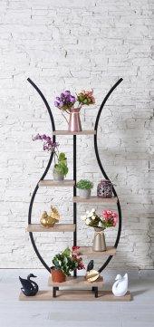 6 Raflı Lale Temalı Dekoratif Çiçek Standı Çiçek Bahçesi Saksılık