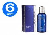 6 X Manly Sport 125 Ml Mavi Erkek Parfümü