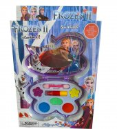 Frozen II Temalı Oyuncak Makyaj SETİ, Göz Farı, Allık ve Fazlas