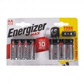Energizer Alkalin Max AA-LR6 Kalem Pil 4+4