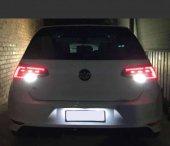 VW Golf 7 Plaka Aydınlatma Seti LED Ampul Femex T10  Beyaz Led