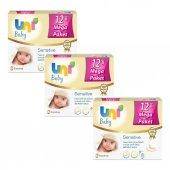 Uni Baby Sensitive Islak Havlu 36 Paket Kapaklı 56x36 (2016 Yaprak)
