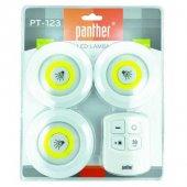 Panther Pt-123 Kumandalı Led Lamba Seti Gece Lambası
