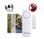 Kablosuz Kapı Pencere Alarmı Manyetik 4 Adet Piranha 8026