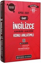 2021 KPSS ÖABT İngilizce Video Destekli Konu Anlatımlı Pegem Yayınları
