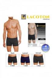 Lacoton Erkek Penye Likralı Boxer 4 Adet LC-0120