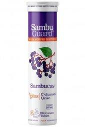 Sambuguard Sambucus Kara Mürver Ekstresi + C Vitamin + Çinko 15 Efervesan Tablet