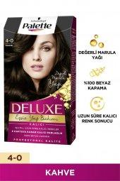 Palette Deluxe Yogun Renkler 4-0 Kahve