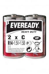 Energizer (C8-0829) Eveready Çinko Karbon Heavy Duty Orta C Pil 2li Shrink