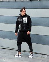 Trair Erkek Joker Baskılı Cepli Kapşonlu Sweatshirt