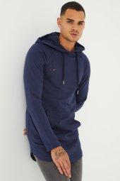Trair Erkek Delikli Cepli Kapşonlu Oversize Sweatshirt
