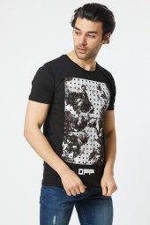 Trair Off White Tasli Baskılı T-Shirt