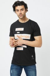 Trair Duz Baskılı T-Shirt