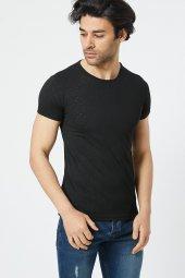 Trair Bısıklet Yaka Delikli Kumas T-Shirt