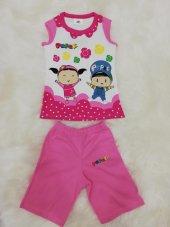 çimpa pepe kız çocuk lisanslı yazlık pijama takımı