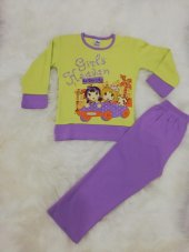 poleren kız çocuk mevsimlik uzunkol pijama takımı