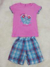 wonder kids 130610  kız çocuk yazlık şortlu pijama takımı