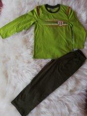 senfoni erkek çocuk mevsimlik pijama takımı uzunkol yeşil