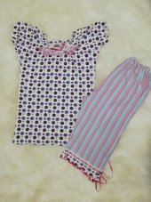 senfoni pitti bimbo kısa kol kaprili çiçekli pijama takımı