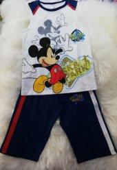 mickey mouse lisanslı orjinal askılı erkek çocuk pijama takımı