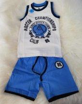 wonderkids 130324 erkek çocuk askılı şortlu pijama takımı