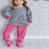roly poly kız çocuk pijama takımı polar