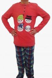 Ba ha polar pijama takımı nar çiçeği
