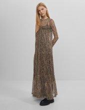 Uzun babydoll elbise - M