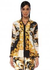 Versace Barok Desenli İpek Gömlek 42