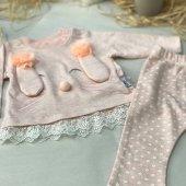 Lilmood 2'li Kız Bebek Pijama Takımı