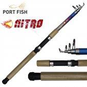 Portfish Nitro Teleskopik Fiber Olta Kamışı 300 cm 75-150gr