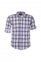 Cosplay Geniş Ekose Slim Fit Gömlek