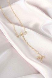 Yusufçuk Tasarım Gold Zincir Kadın Kolye