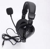 Siyah Mikrofonlu Kulaklık