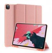 Yukka iPad Pro 12.9 2020 Pembe Darbeye Dayanıklı Katlanabilir Kapak Kılıf