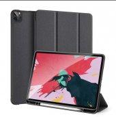 Yukka iPad Pro 12.9 2020 Siyah Darbeye Dayanıklı Katlanabilir Kapak Kılıf